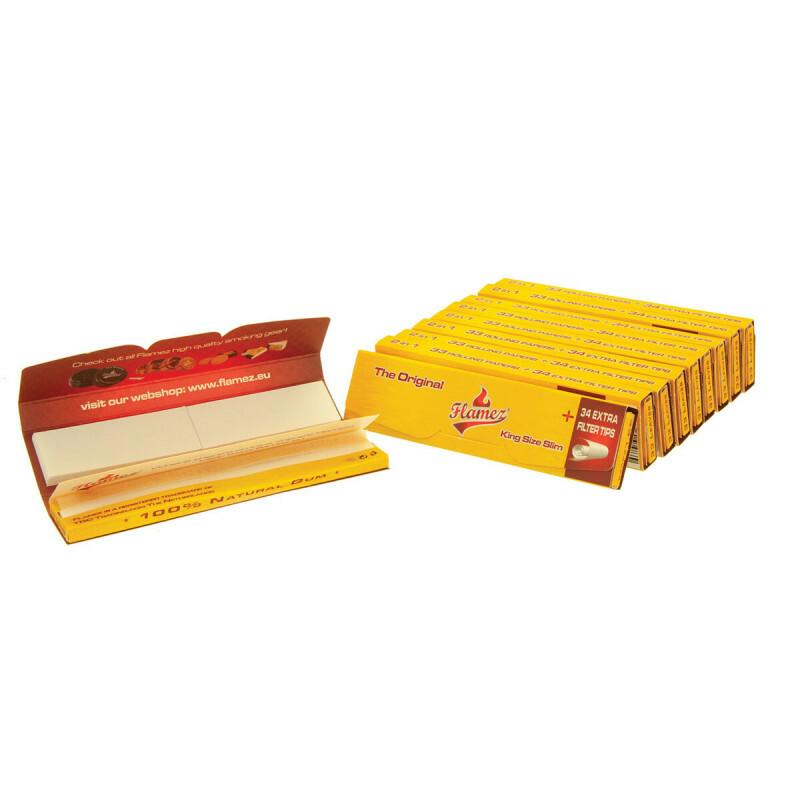 Flamez kingsize slim two in one 10 pack