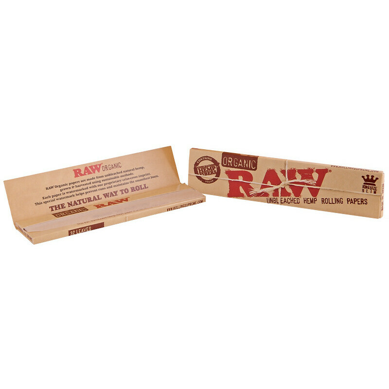Raw organic papers king size slim 1 booklet