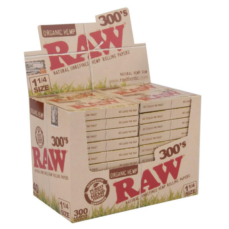 Display Raw 300 Organic 1 1/4 300 Leaves 40 Pcs