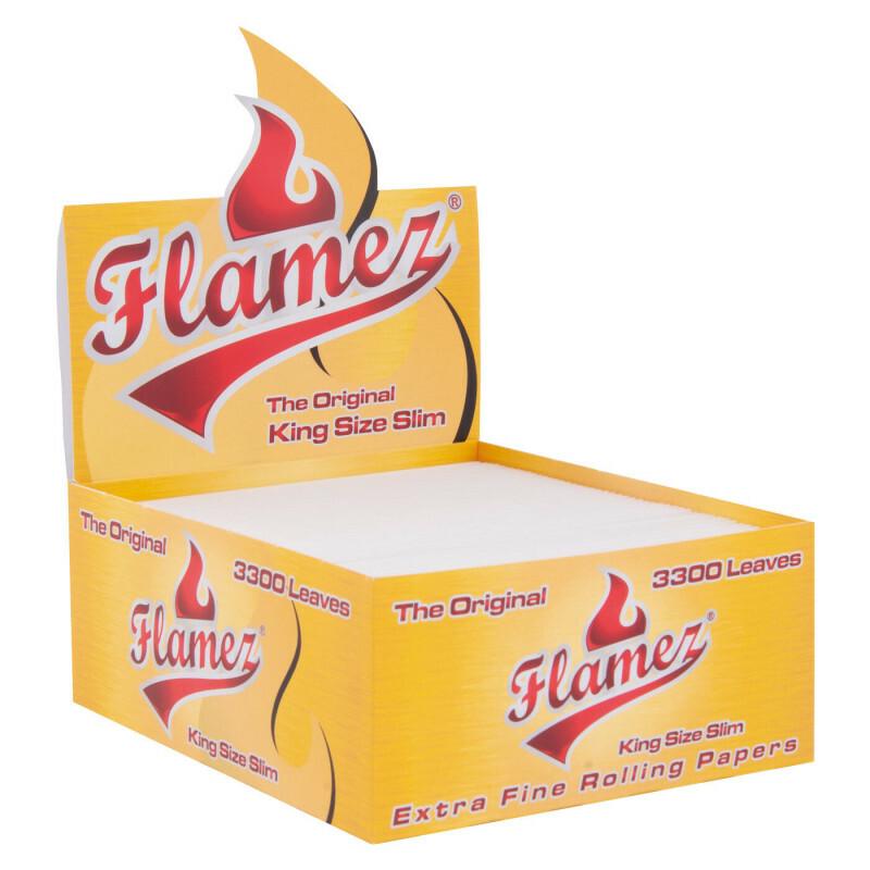 Display Flamez Kingsize Slim Papers Loose 3300 Leaves