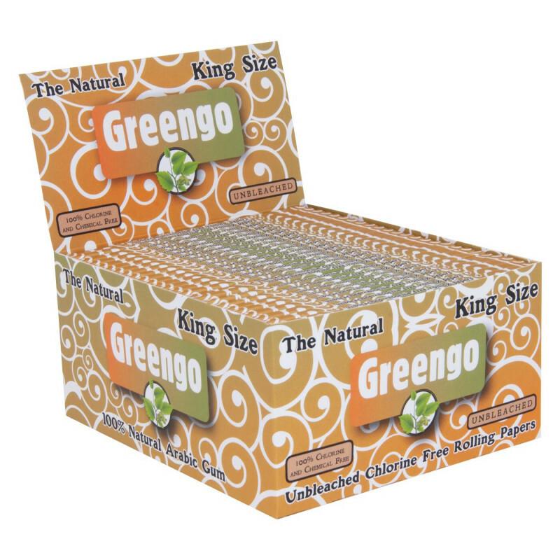Display greengo unbleached king size regular 50 pcs.