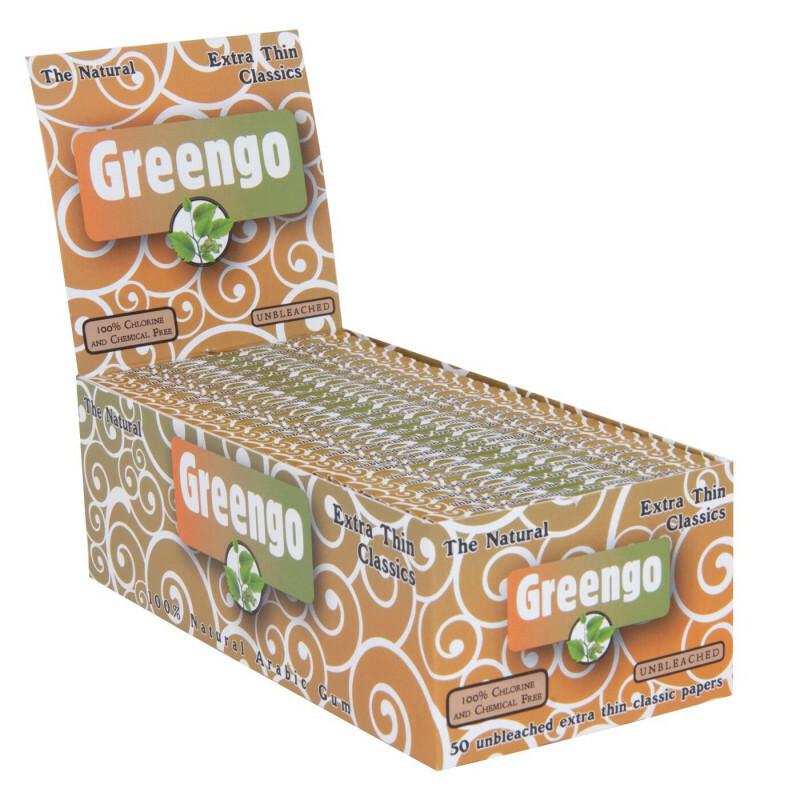 Display Greengo Unbleached Extra Thin Classics 50 Pcs