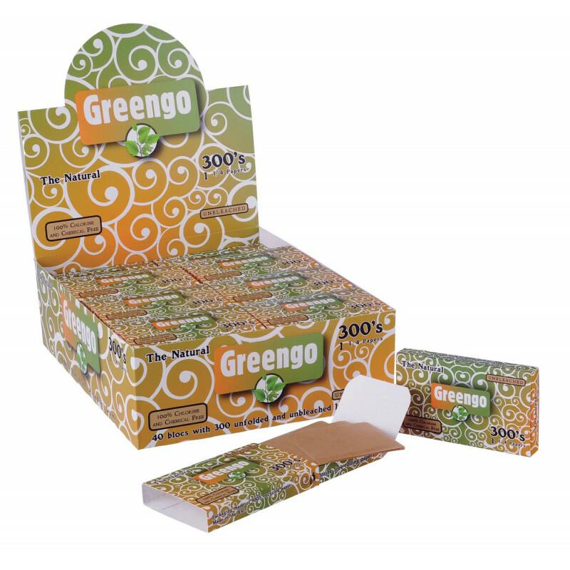 Display Greengo Unbleached 1 1/4 300'S 40 Pcs