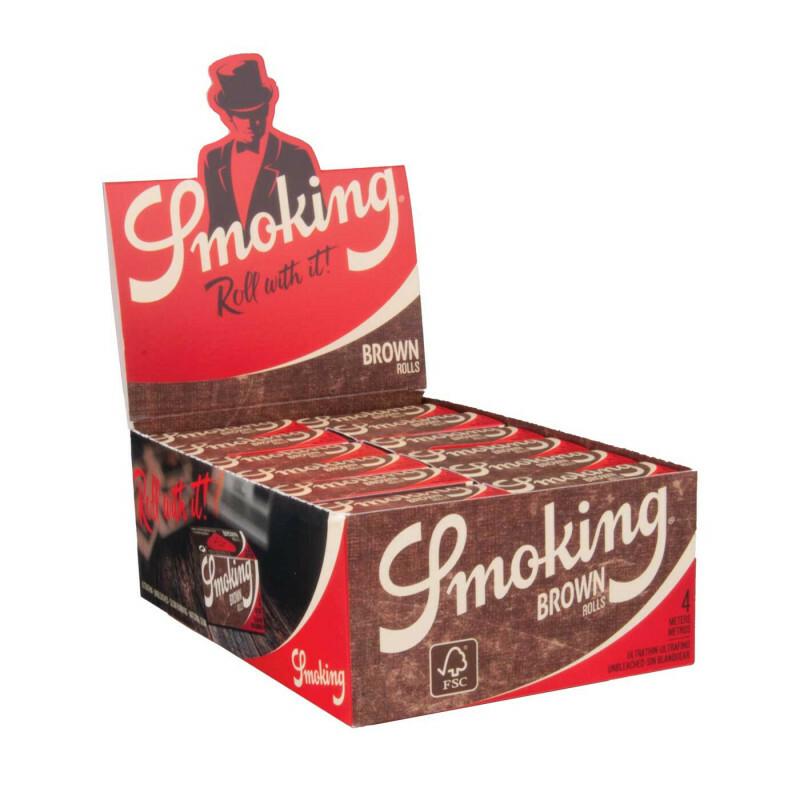 Display smoking rolls brown 44 mm  24 pcs