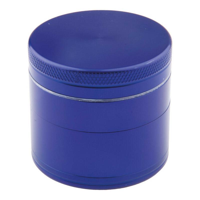 Aluminium grinder 4 parts 40mm blue