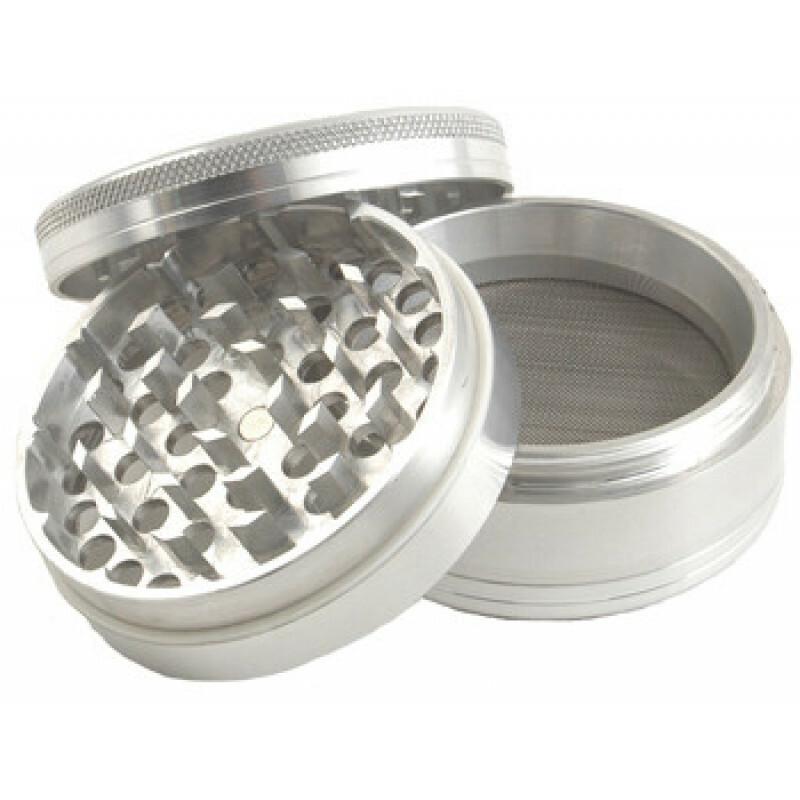 Aluminium grinder 4 parts 50mm silver
