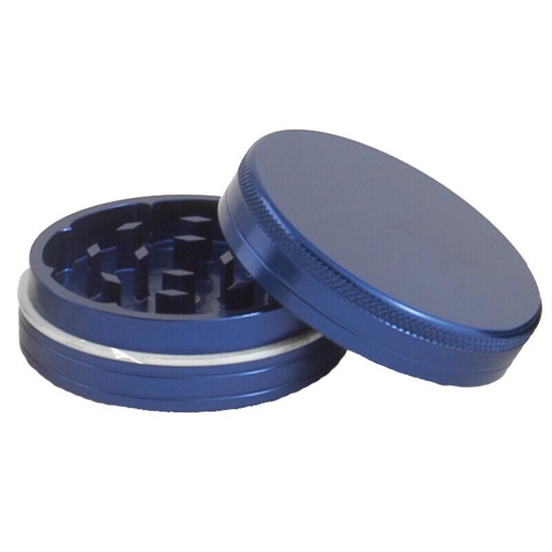 Aluminium grinder 2 parts 40 mm blue