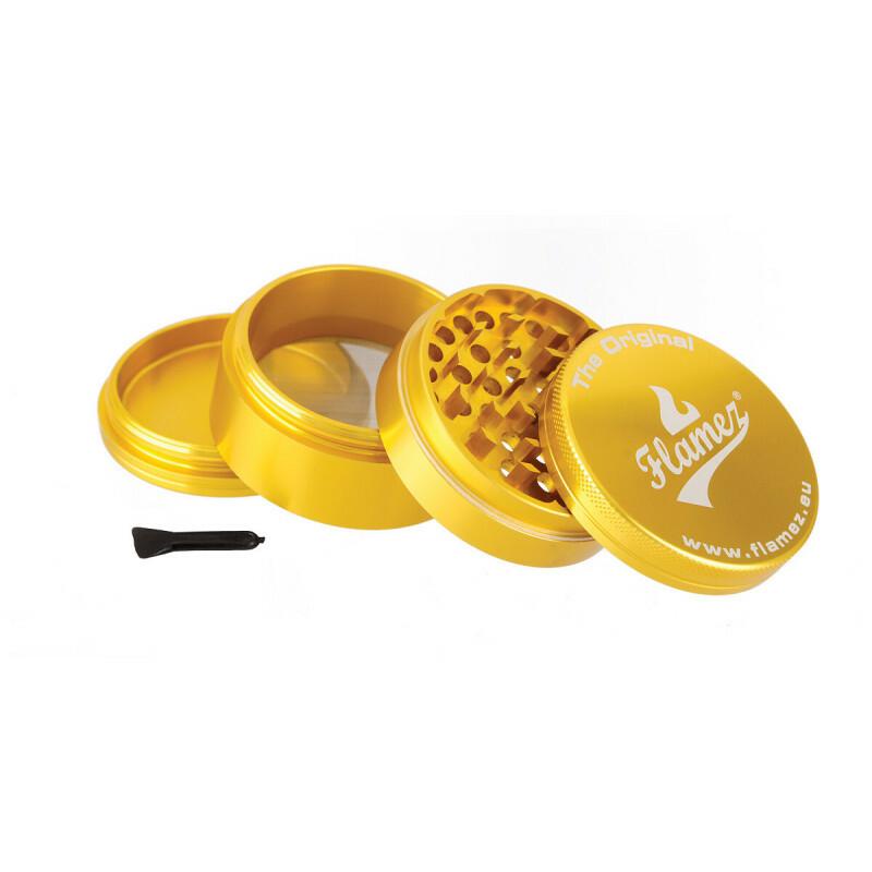 Flamez grinder 4 parts 63 mm gold
