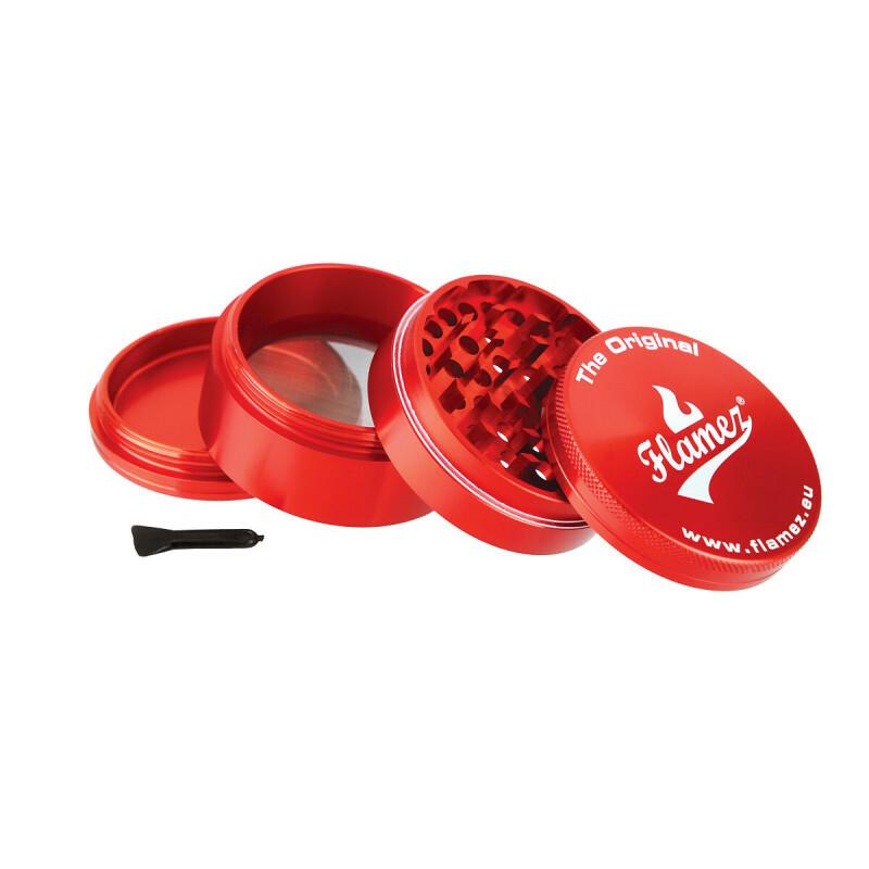 Flamez grinder 4 parts 63 mm red