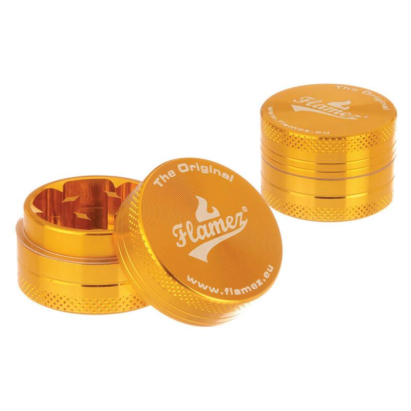 Flamez Grinder 2 Parts 30 Mm Gold