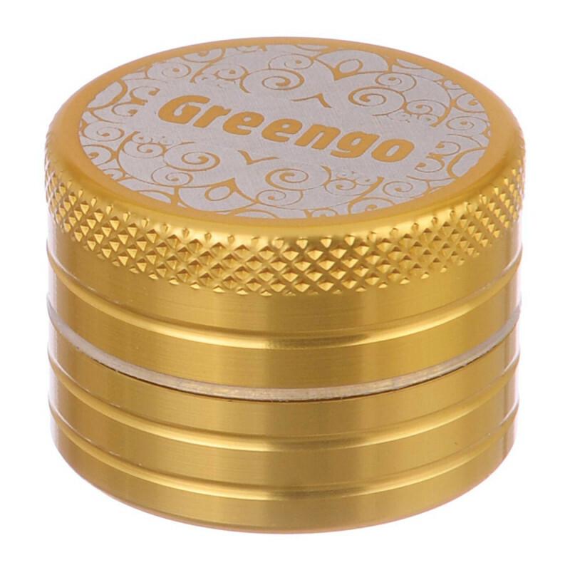 Greengo Grinder 2 Parts 30 Mm Gold