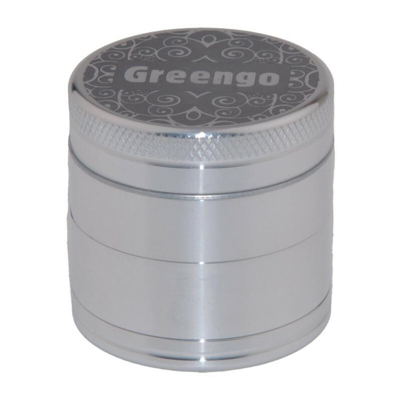 Greengo Grinder 4 Parts 40 Mm Silver