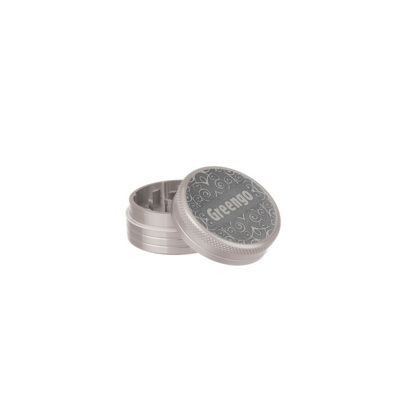 Greengo Grinder 2 Parts 40 Mm Silver