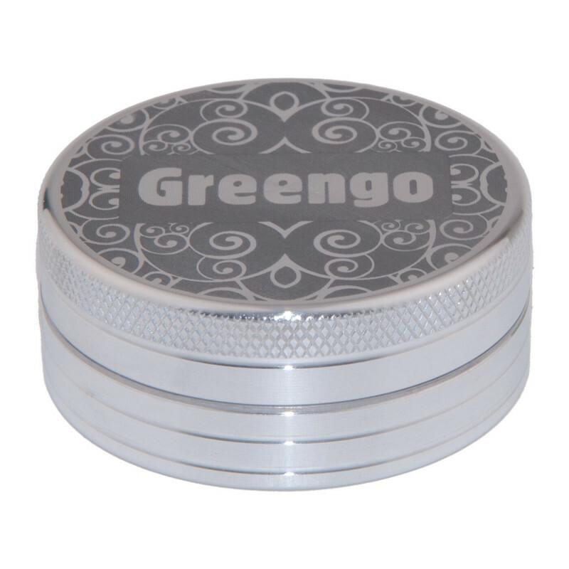 Greengo Grinder 2 Parts 50 Mm Silver