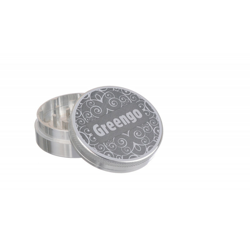 Greengo Grinder 2 Parts 50 Mm Silver