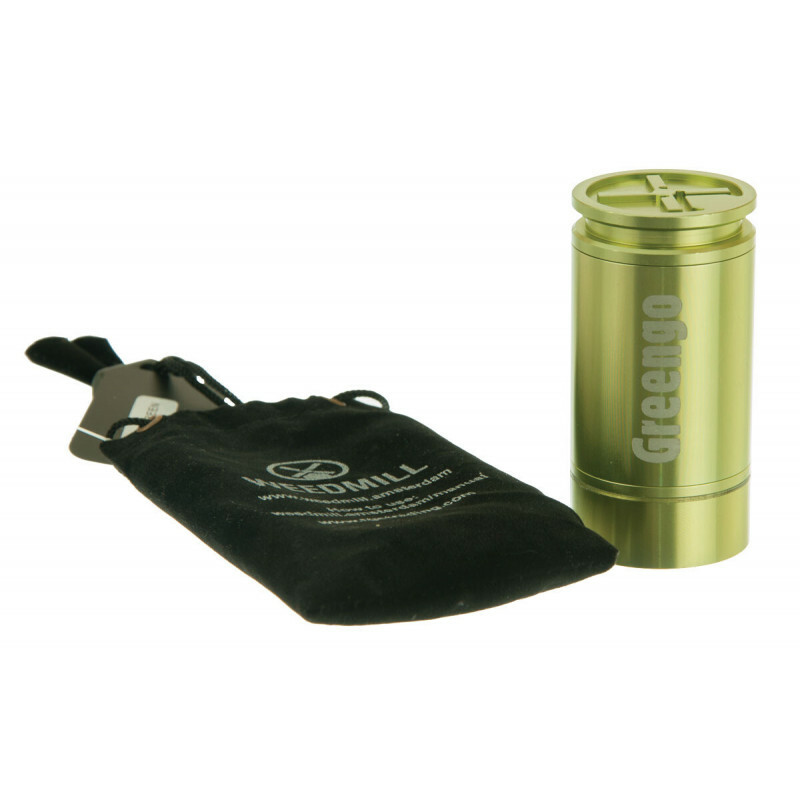 Weedmill Aluminium Grinder 2 Parts Mm Lime Green