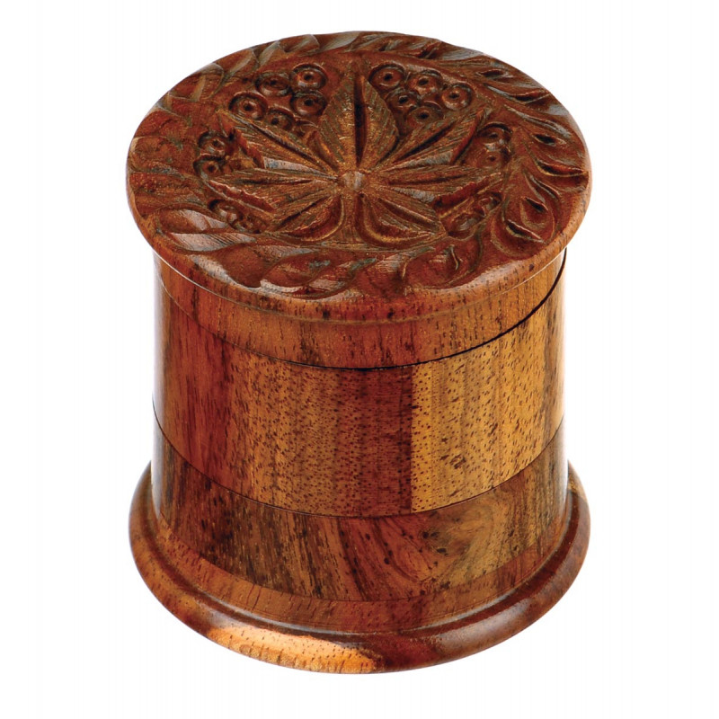 Small Rosewood Double Grinder Pollinator Carved