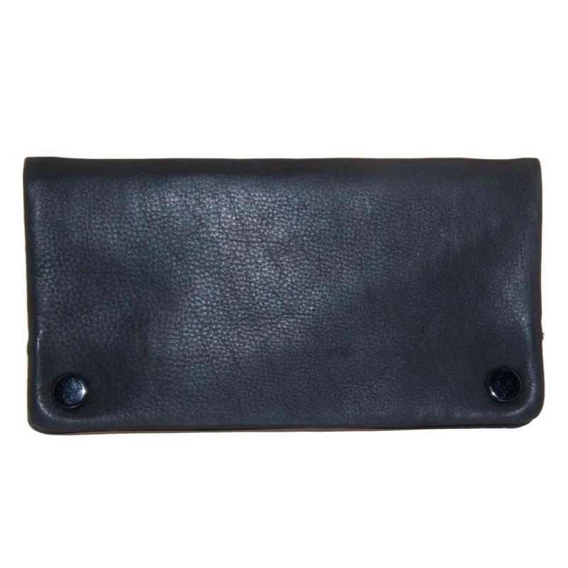 Leather Finecut Tobacco Pouch Black