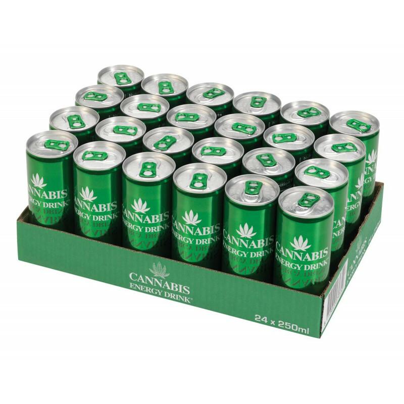 Carton cannabis energy drink green 24 pcs