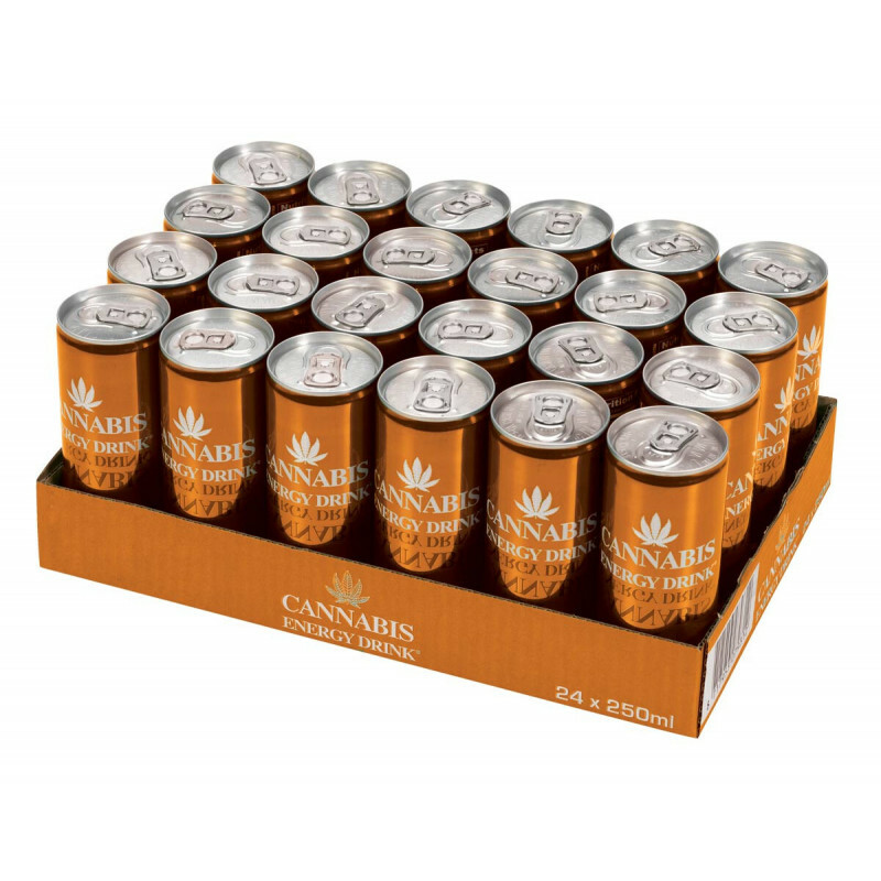 Tray Cannabis Energy Drink Mango 24 Pcs