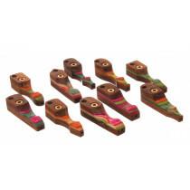 Rainbow Wooden Pipe Assorti Wp-01 1Pc