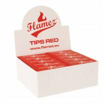 Flamez filter tip booklet red 50 pcs