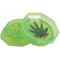 Acrylic grinder with leaf green