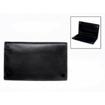 Leather Finecut Tobacco Pouch Black