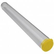 J-pack clear 100 mm + caps yellow 1000 pcs