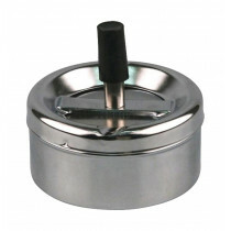 Spinning Ashtray Full Chrome 9 Cm
