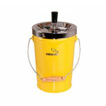 Bucket Spinning Ashtray Chrome/Yellow 14 Cm