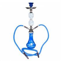 Shisha W 635 Blue Swirl 53 Cm 2 Hose