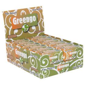 Display greengo unbleached slim rolls 44 mm 24 pcs