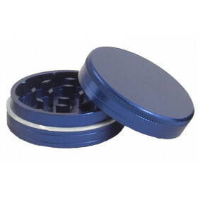Aluminium grinder 2 parts 40 mm blue