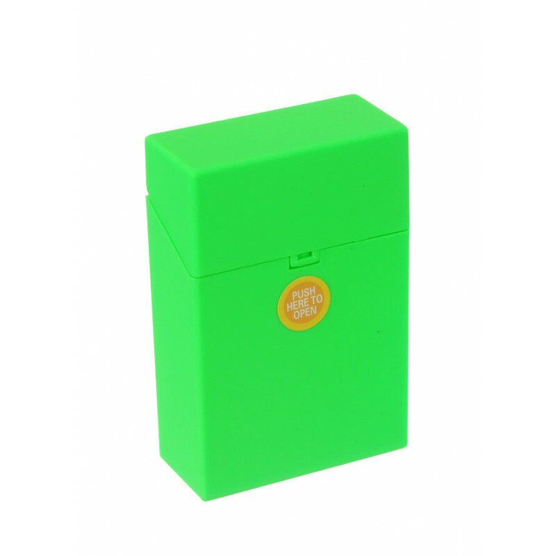 Clic Boxx Cigarette Box 20 Cig Fluorescent Design Green