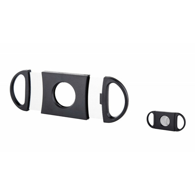Angelo Cigar Cutter Plastic Straight Black