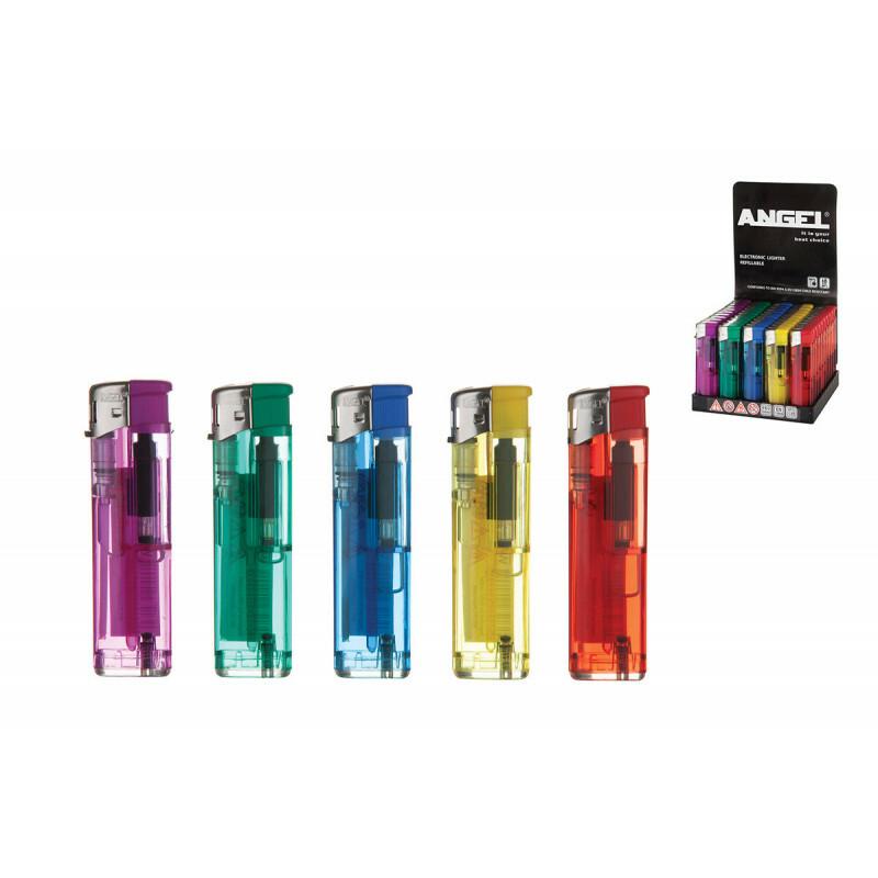 Angel Transparent Electronic Lighters 50 Pcs