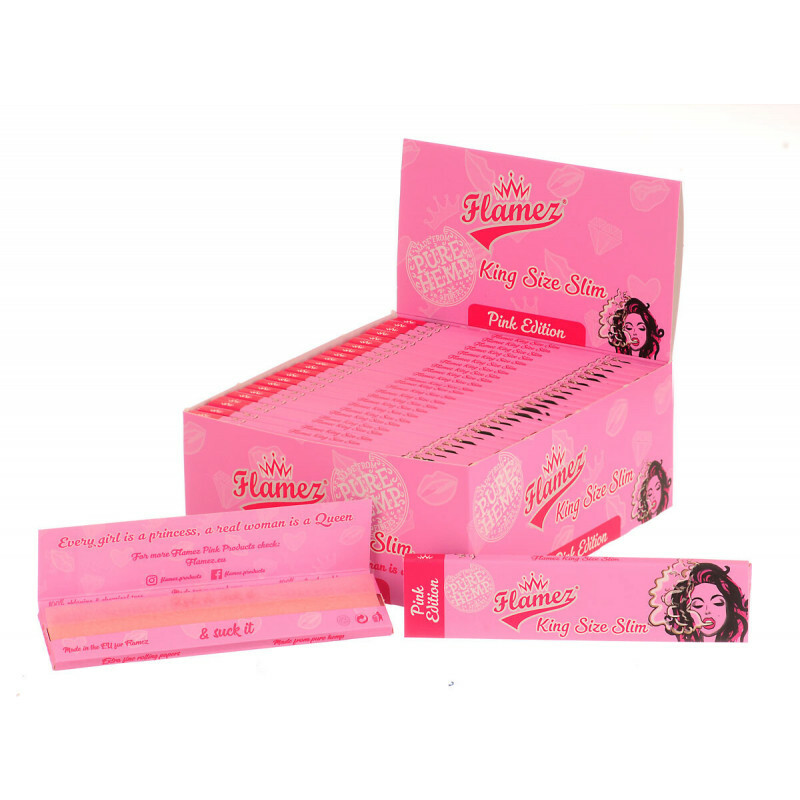 Display Flamez Pink King Size Slim Box 50Pcs