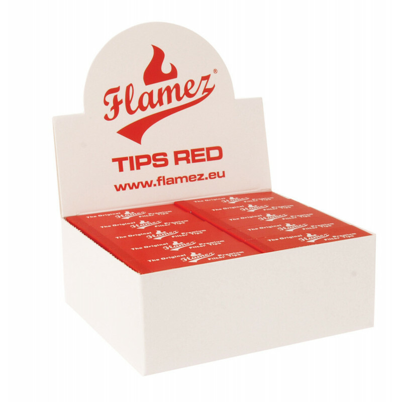 Flamez filter tip booklet red 50 pcs
