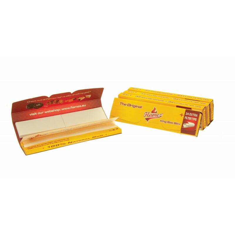 Flamez kingsize slim two in one 5 pack 514148-5pcs