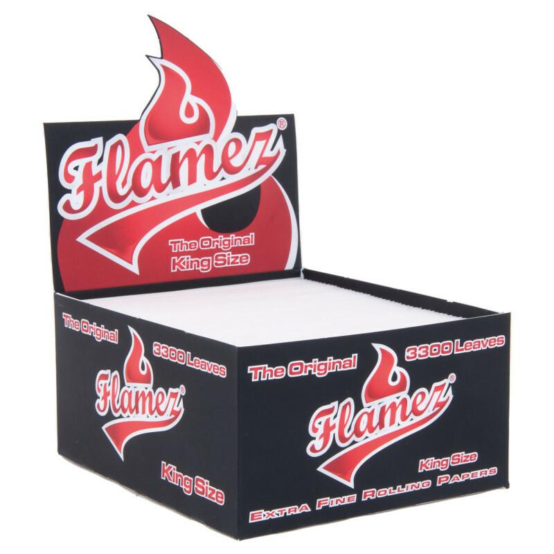 Display Flamez Kingsize Regular Papers Loose 3300 Leaves