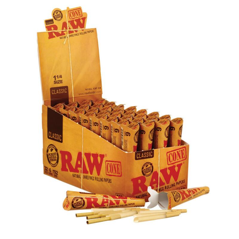 Display Raw 1 1/4 Cones Basic 6 Pack 32 Pcs