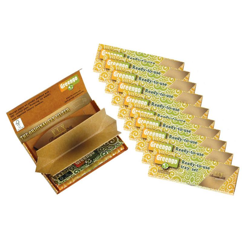 Greengo Festival Pack Kss Brown Silk 10 Pc