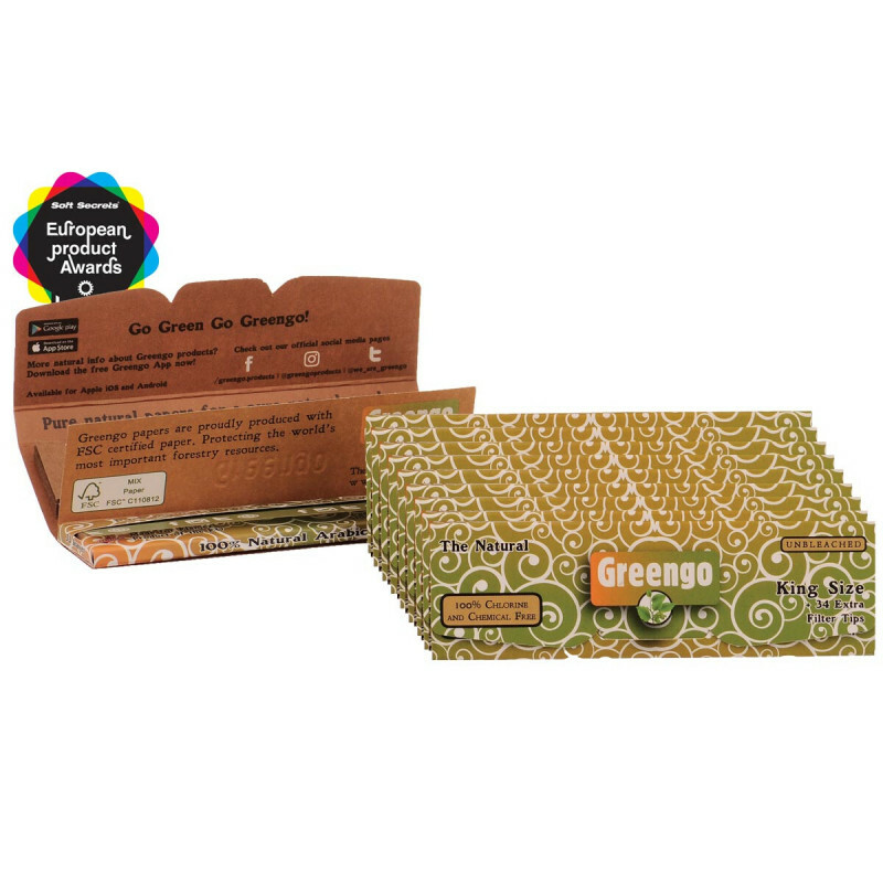 Greengo 2 in 1 unbleached regular papers 10 pack