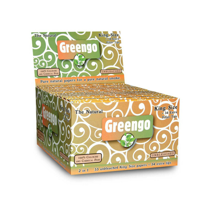Display greengo unbleached king size regular 2 in 1 24 pcs