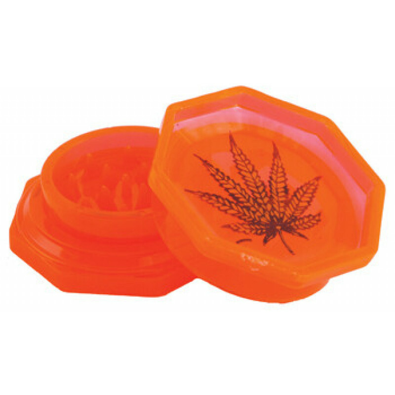 Acrylic grinder with leaf orange