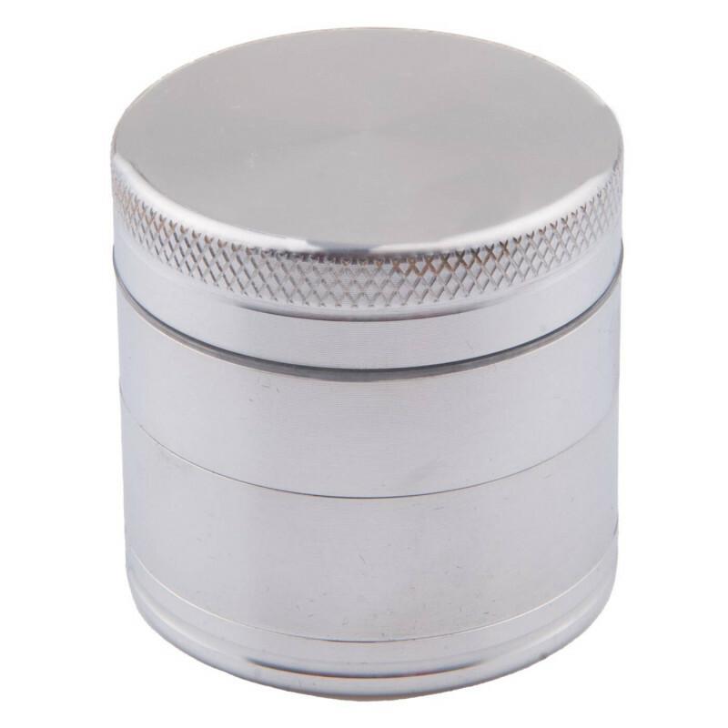 Aluminium grinder 4 parts 40mm silver