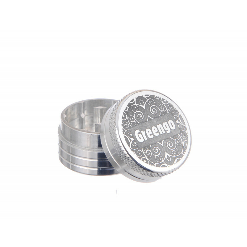 Greengo Grinder 2 Parts 30 Mm Silver