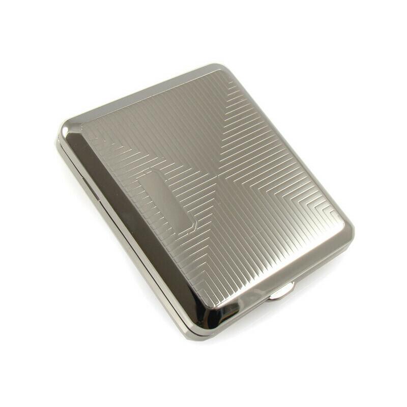 Angelo 18 cigarettes case chrome rhombus rubber
