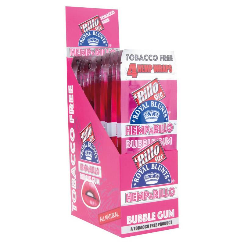 Display Hemparillo Hemp Blunts Bubblegum 15X4 Pcs
